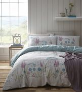 Portfolio Pasture Aqua Duvet Cover Set - Single